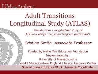 Adult Transitions Longitudinal Study (ATLAS)