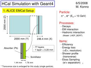 HCal Simulation with Geant4