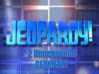 2 Dimensional GEOMETRY