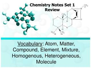 Chemistry Notes Set 1 Review