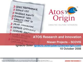ATOS Research and Innovation