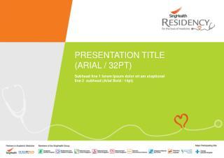 PRESENTATION TITLE (ARIAL / 32PT)