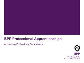 BPP Professional Apprenticeships