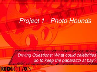 Project 1 - Photo Hounds