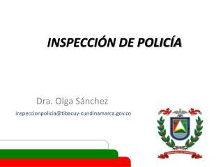 INSPECCIÓN DE POLICÍA