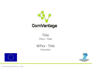 Title Place – Date WPxx  - Title Presenter