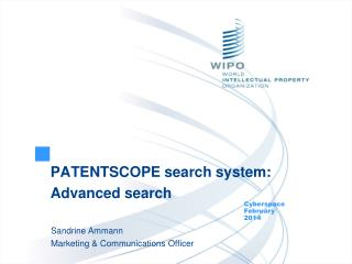 PATENTSCOPE search system: Advanced search