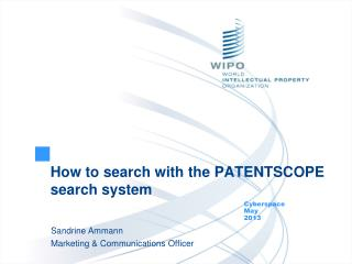 How to search with the PATENTSCOPE search system