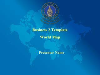 Business 2 Template World Map