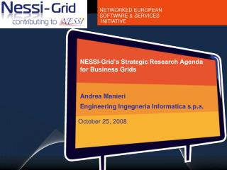 NESSI-Grid's Strategic Research Agenda  for Business Grids