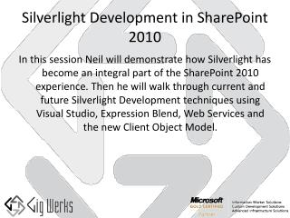 Silverlight Development in SharePoint 2010