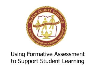 Using Formative Assessment to Support Student Learning