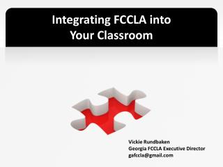 Integrating FCCLA into  Your Classroom