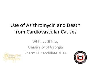 Use of Azithromycin and Death from Cardiovascular Causes