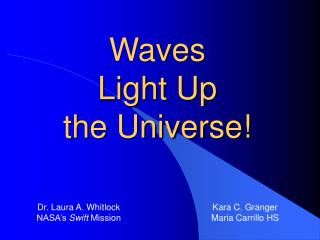Waves  Light Up  the Universe