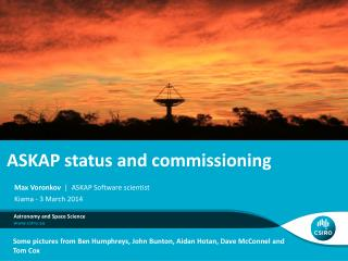 ASKAP status and commissioning
