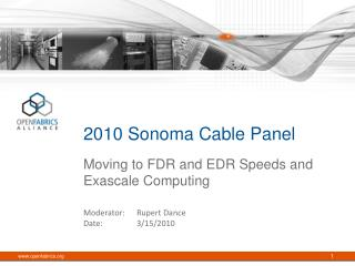 2010 Sonoma Cable Panel
