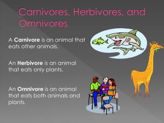 Carnivores, Herbivores, and Omnivores