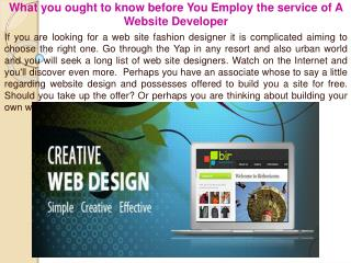 What you ought to know before You Employ the service of A We