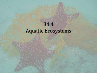 34.4 Aquatic Ecosystems