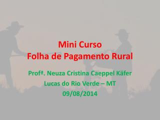 Mini Curso  Folha de Pagamento Rural