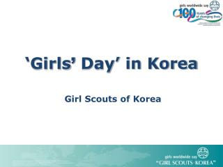 �Girls �  Day�  in Korea