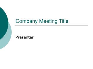 Company Meeting Title
