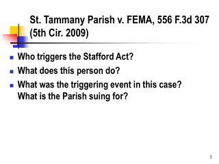 St. Tammany Parish v. FEMA, 556 F.3d 307 5th Cir. 2009
