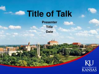Title of Talk