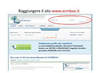 Raggiungere il sito  ecmbox.it