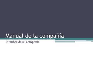 Manual de la compañía