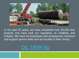Best Oil Tank NJ Removal Services