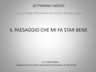 SETTIMANA UNESCO