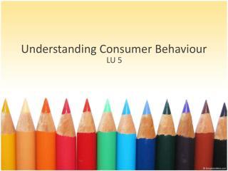 Understanding Consumer  B ehaviour