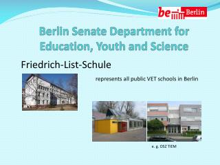 Berlin Senate Department  for Education, Youth  and  Science