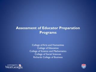 Assessment of Educator Preparation Programs