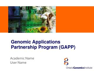 Genomic Applications Partnership Program (GAPP)