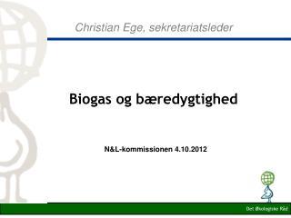 Christian Ege, sekretariatsleder