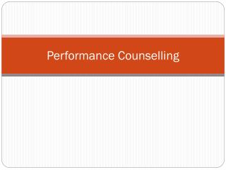 Performance Counselling