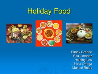 Holiday Food