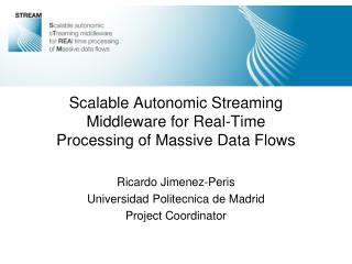 Scalable Autonomic Streaming Middleware for Real-Time Processing of Massive Data Flows