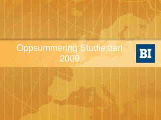 Oppsummering Studiestart 2009