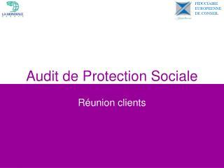 Audit de Protection Sociale