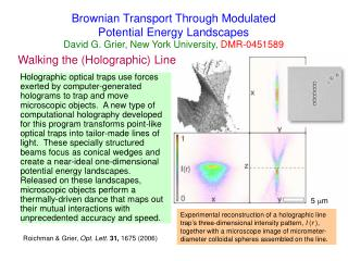 Brownian Transport Through Modulated  Potential Energy Landscapes