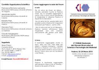 Comitato Organizzatore/Scientifico Francesca Romana Lamastra