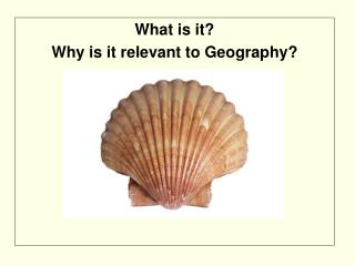 What is it?  Why is it relevant to Geography?