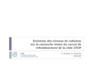 V. Donate, G. Dumont DGS/RP