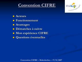 Convention CIFRE