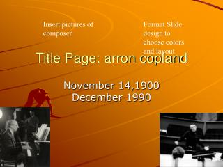 Title Page: arron copland