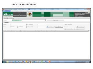 OFICIO DE RECTIFICACIÓN